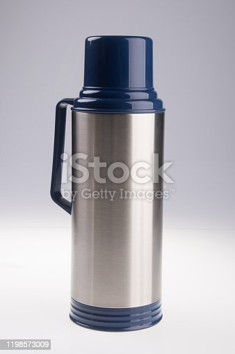 1135476970 istock photo Thermo or Thermo flask on background 1198573009
