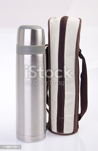 1135476970 istock photo Thermo or Thermo flask on background 1198573011