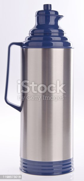 1135476970 istock photo Thermo or Thermo flask on background 1198573018