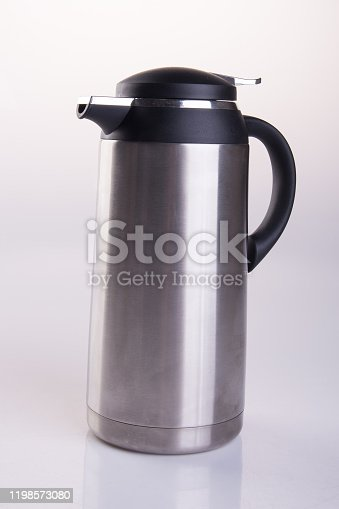 1135476970 istock photo Thermo or Thermo flask on background 1198573080