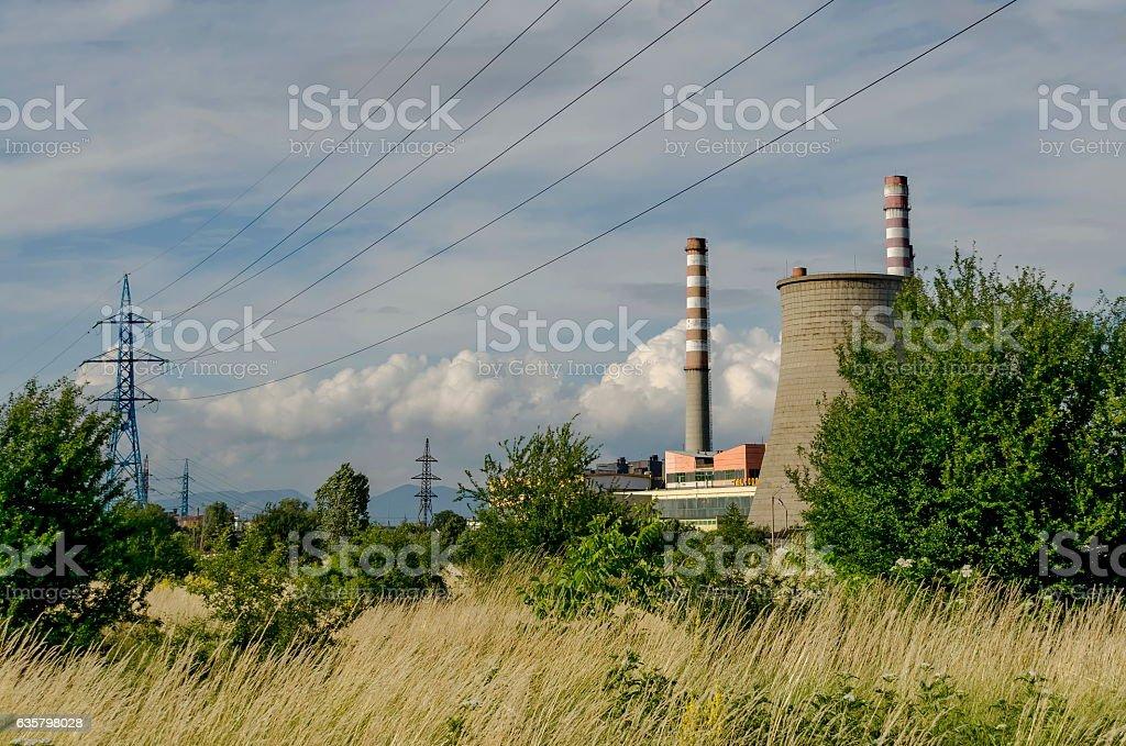 Thermoelectric power plant 'Sofia Iztok' stock photo