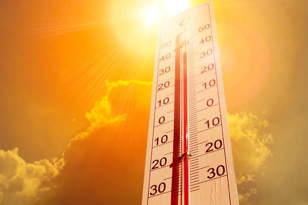 termometer i himlen, värmen - feber bildbanksfoton och bilder