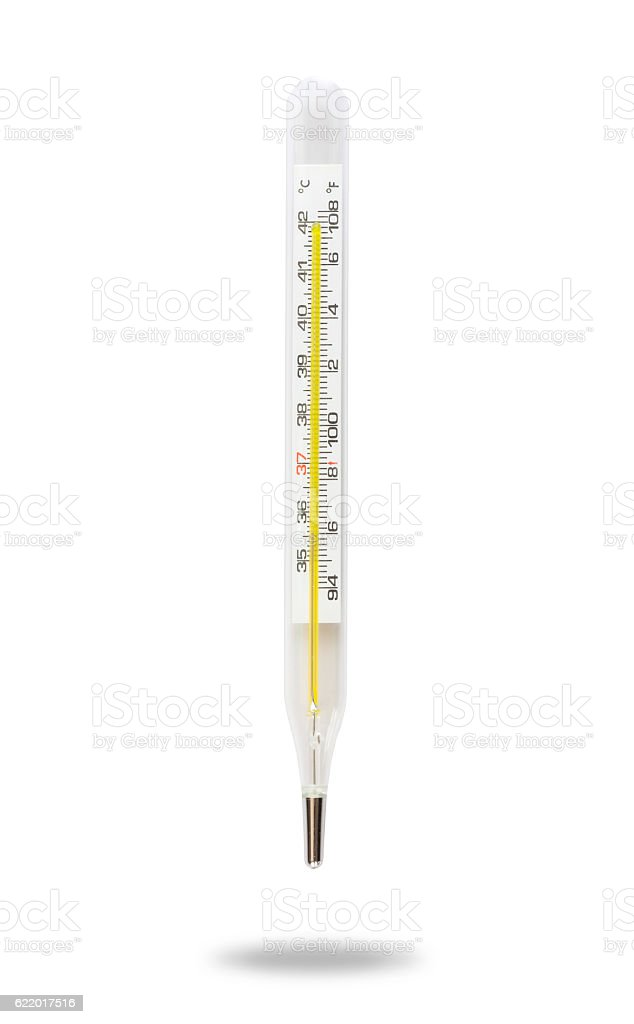 thermometer isolated on white background with clipping path - foto de stock