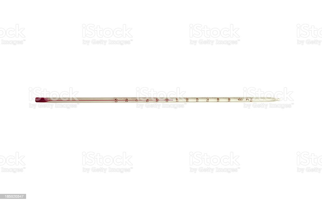 Thermometer isolated on white royalty-free stock photo