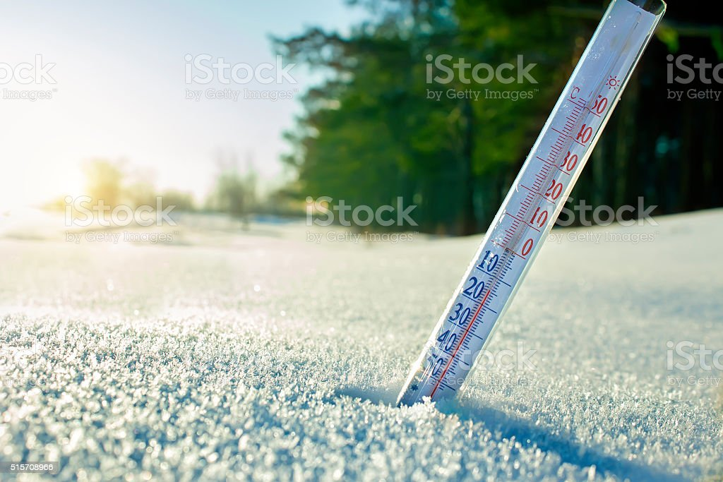Thermometer on the Street stock photo