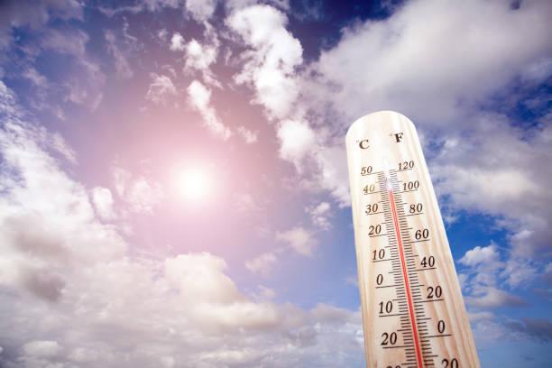 溫度計上夏天熱 - 熱度 溫度 個照片及圖片檔