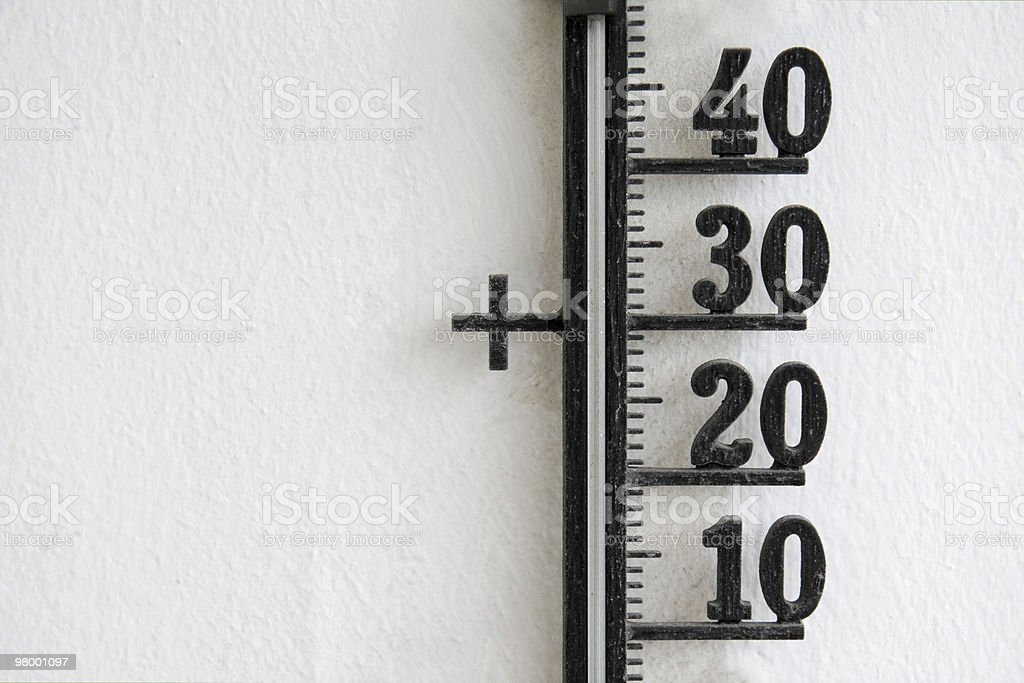 Thermometer scale royalty-free stock photo