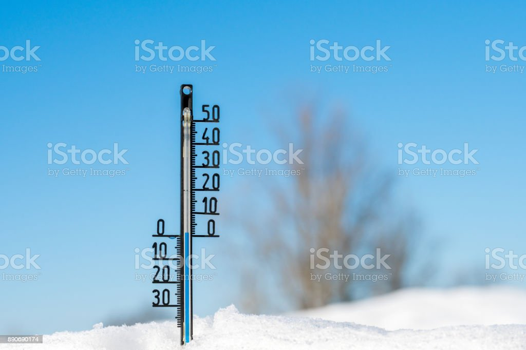 Thermometer Shows Zero Temperatures In Degrees Celsius Royalty Free Stock P O