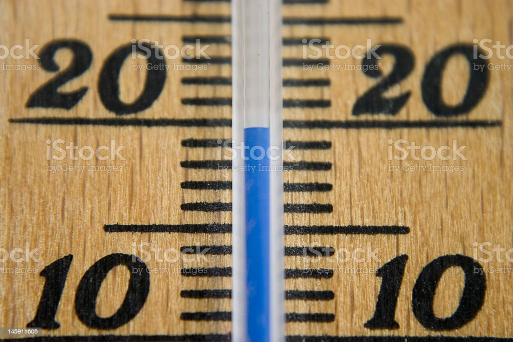Thermometer with scale stock photo
