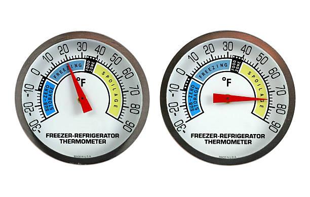 thermometer - kühlraum stock-fotos und bilder