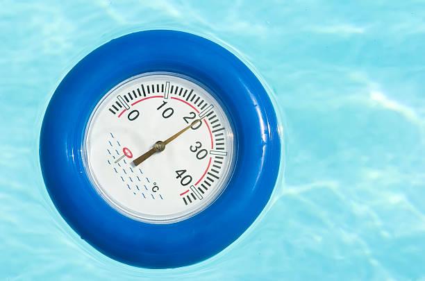 thermomètre de piscine - pp pool stock-fotos und bilder