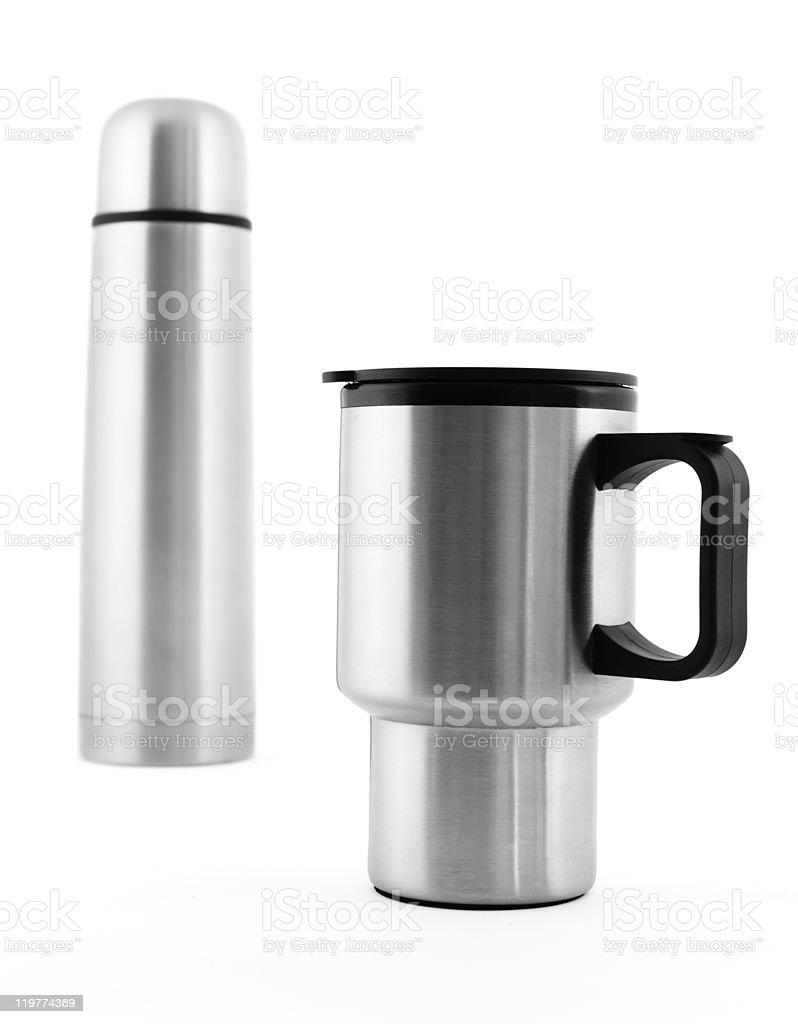 Thermos and Travel Mug royalty-free stock photo