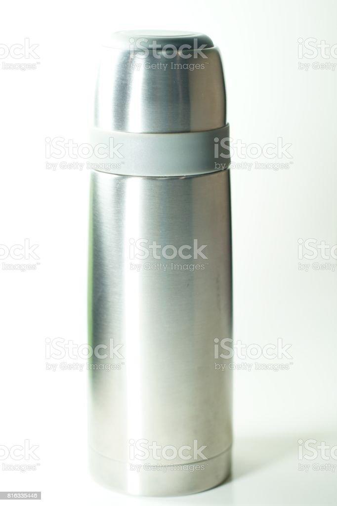 Thermos flask stock photo