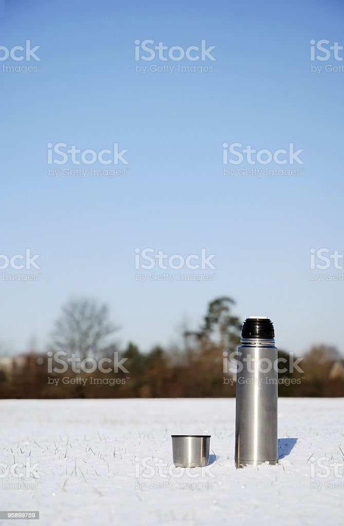 Thermos flask royalty-free stock photo