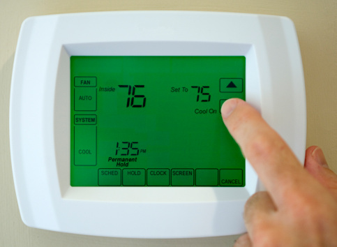 Thermostat Air Conditioner Stock Photo - Download Image Now