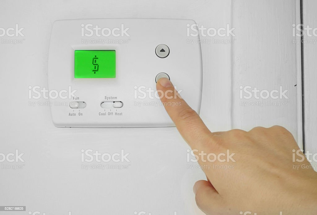 thermostat cost stock photo