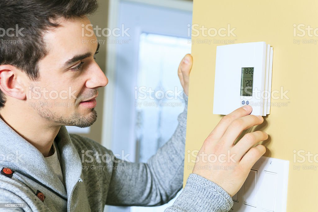 Thermostat - Degree stock photo