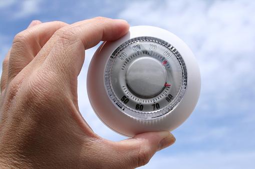 Thermostat Im Freien Stockfoto und mehr Bilder von Aufnahme von unten
