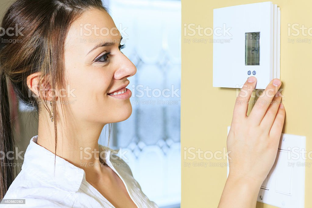 Thermostat - Set stock photo
