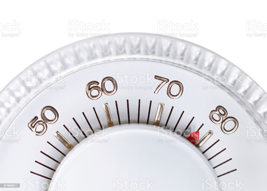 Thermostat set to 78 degrees royalty-free stock photo