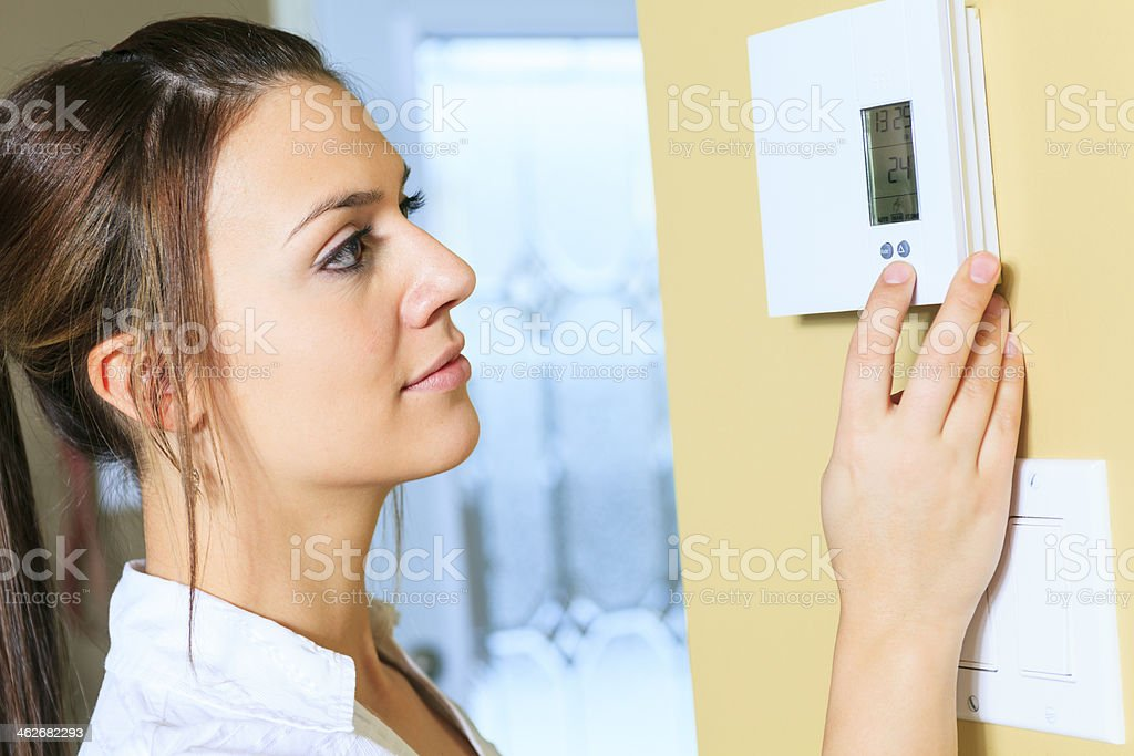 Thermostat - Woman Set stock photo