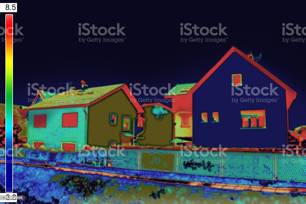Thermovision image on House stock photo