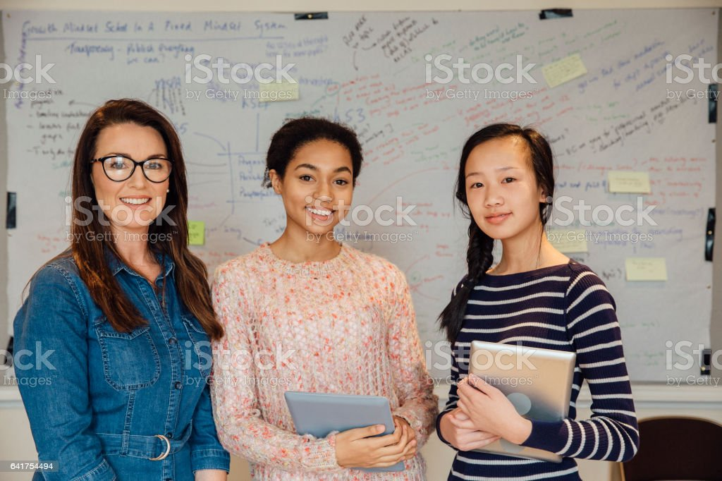 These Are My Top Students stock photo