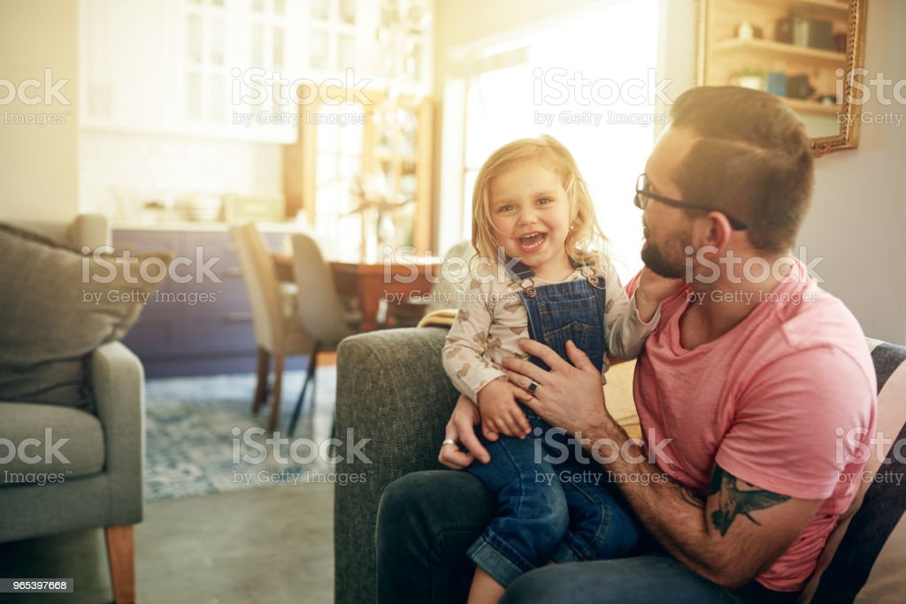 These are the days she'll remember forever - time with dad zbiór zdjęć royalty-free