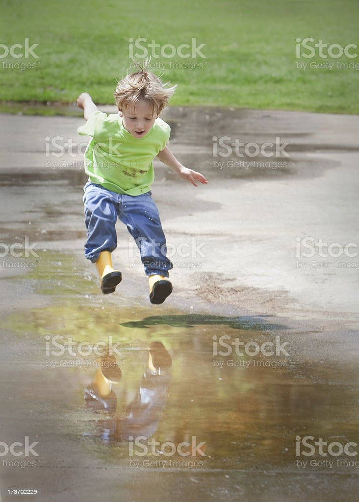These Boots Were Made for Jumpin' royalty-free stock photo