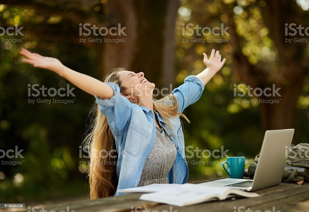 These exams have nothing on me! stock photo