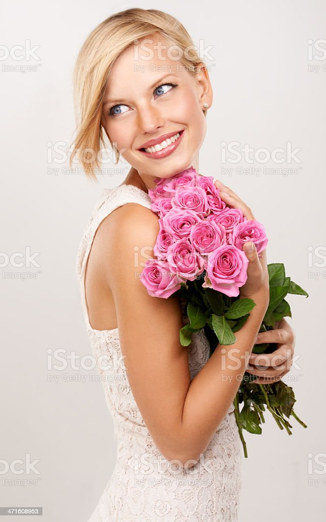 These flowers are so pink stock photo