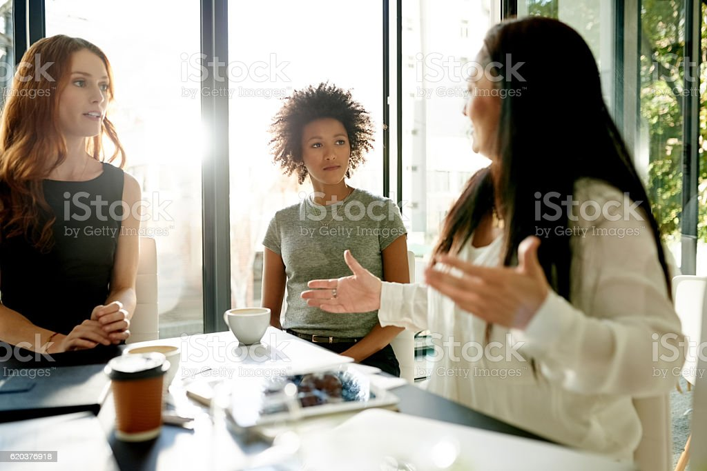 These ladies are getting down to business foto de stock royalty-free