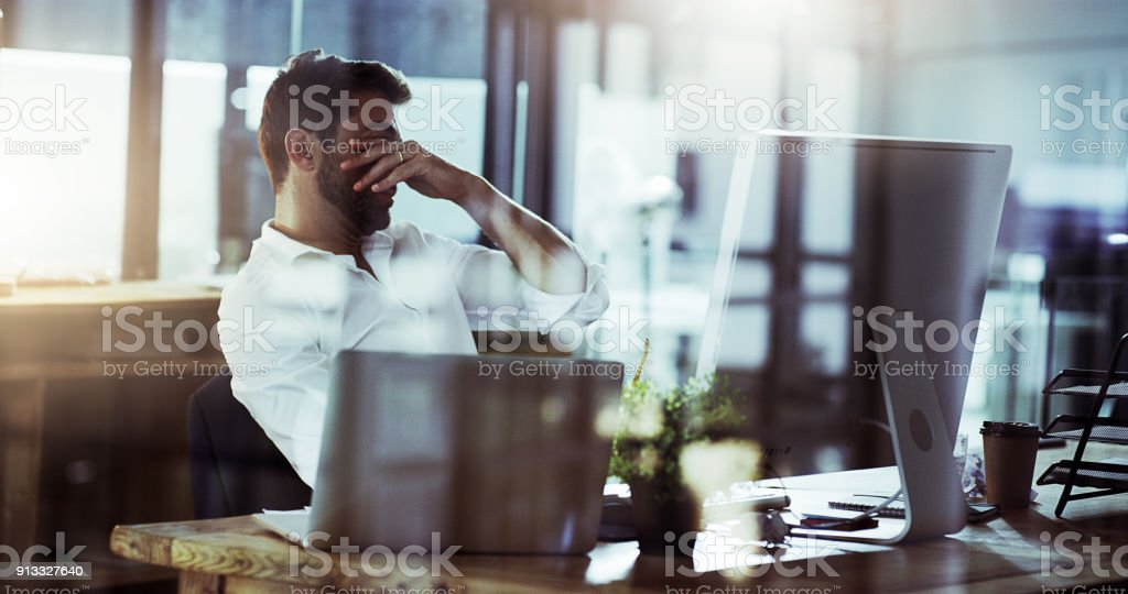 These late nights are killing me stock photo