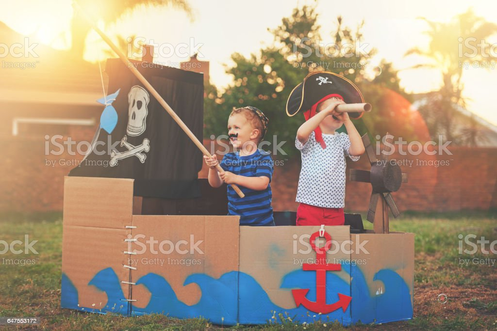 These little pirates just want to have fun stock photo