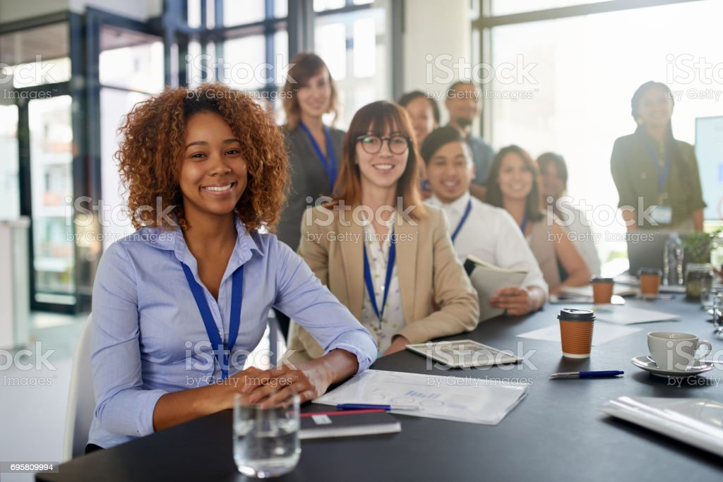 These meetings are imperative to our success stock photo