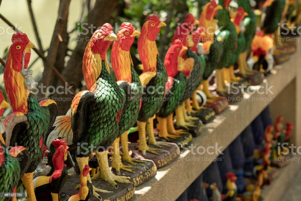 These Statue Chickens Are Symbol Of Believe In Holy Thing In