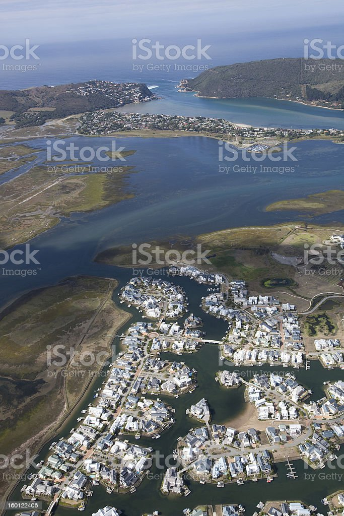 Thesen Island, Knysna stock photo