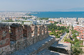 istock Thessalonika with old city wall 184344385