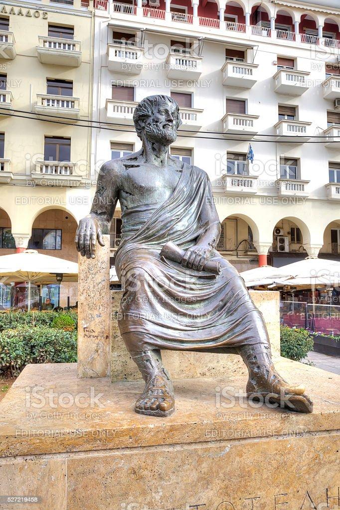 Thessaloniki. Aristoteles-Skulptur – Foto