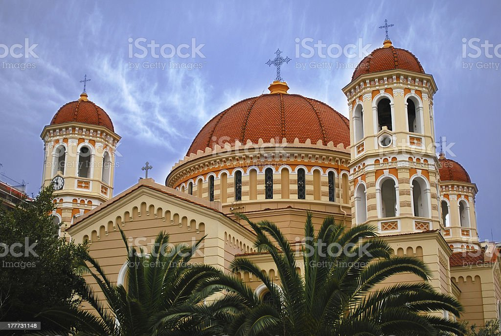 Thessaloniki. Cathedral stock photo