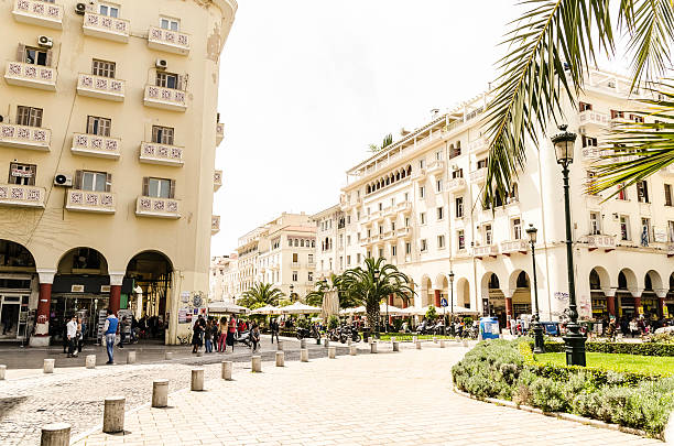 Thessaloniki center. stock photo