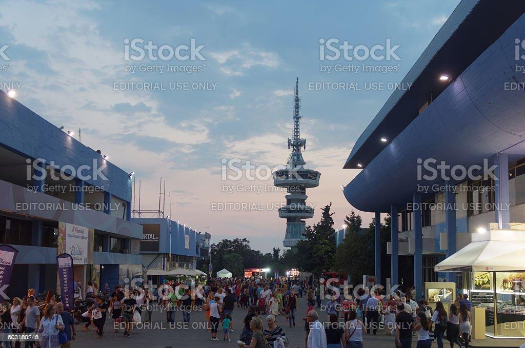Thessaloniki, Greece - September 12 2016: 81st International fair visitors stock photo