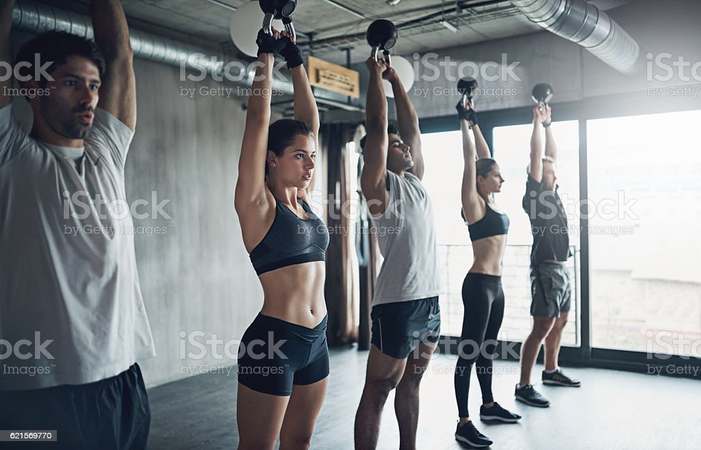 They all share a similar commitment to fitness photo libre de droits