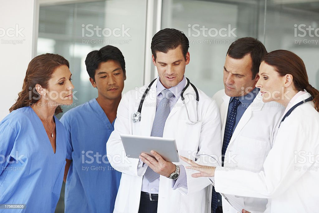 They are a specialised medical team royalty-free stock photo