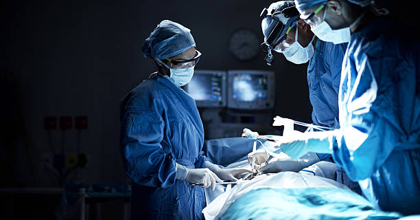 They are a team of dedicated surgeons stock photo
