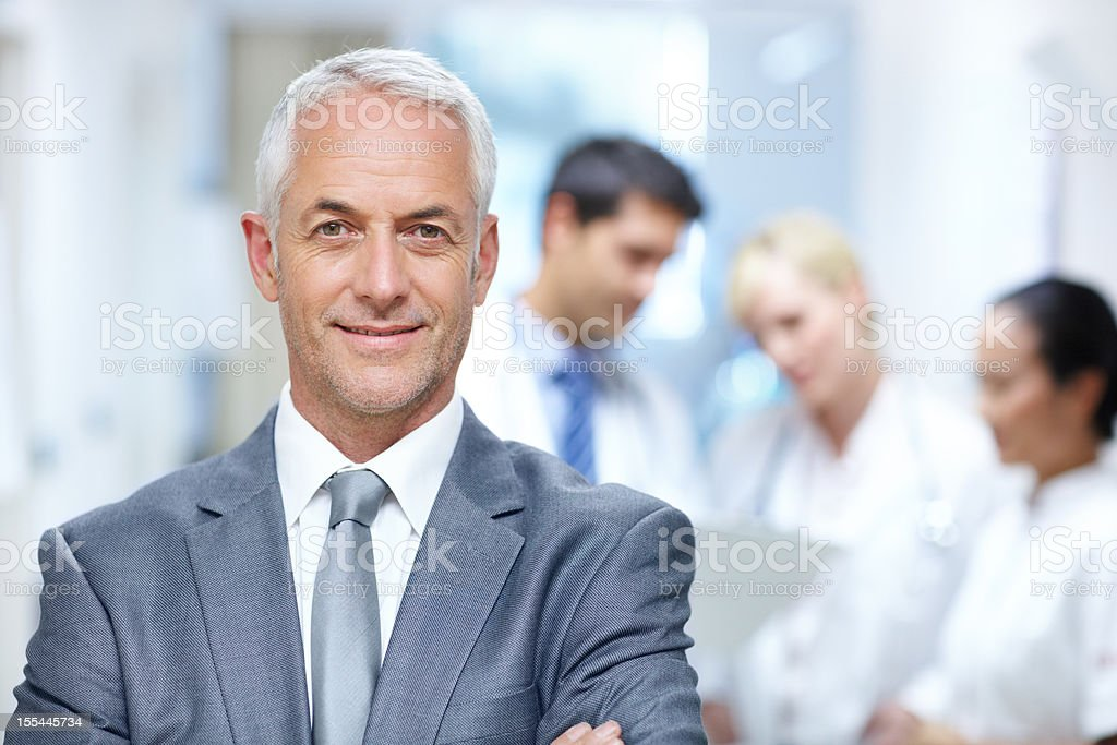 They are all promising members of the medical profession stock photo