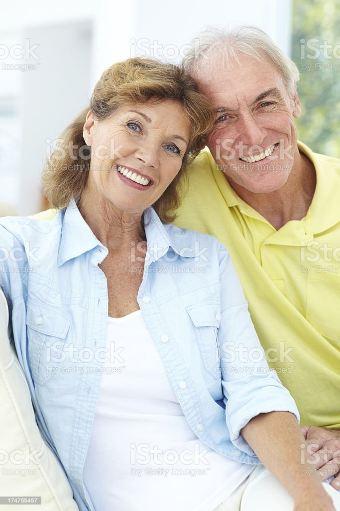 They are enjoying their retirement years together royalty-free stock photo