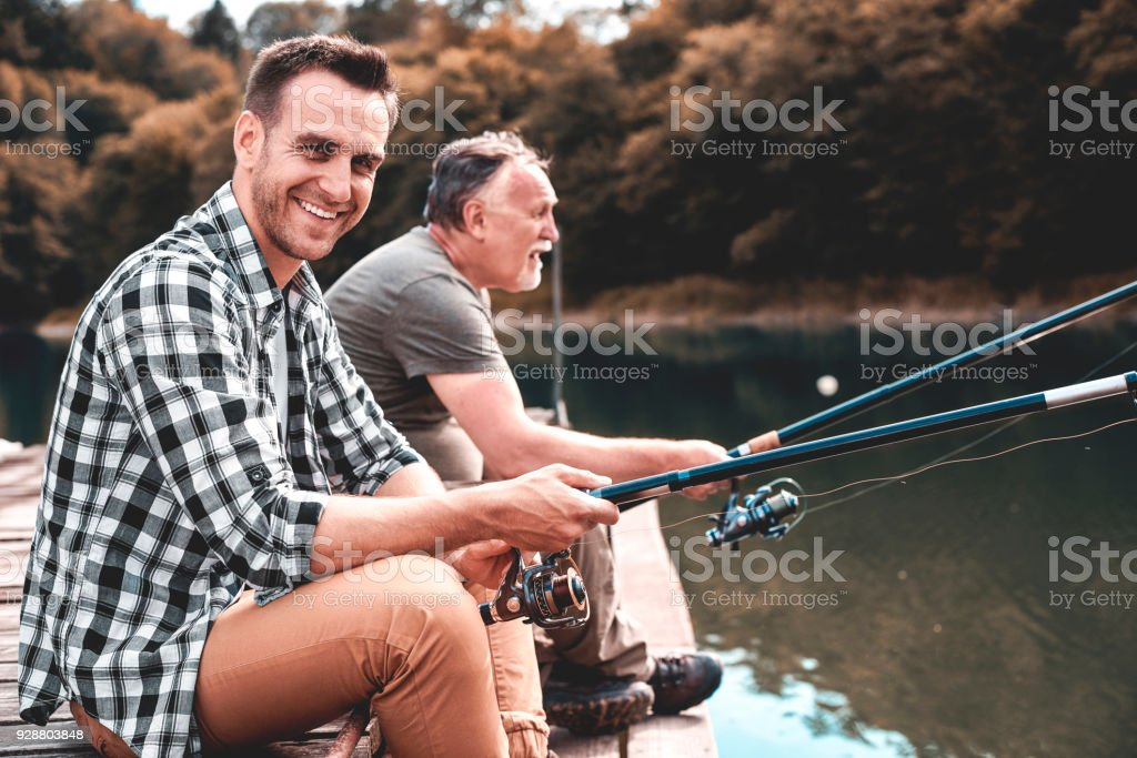 They are geared to catch fish stock photo