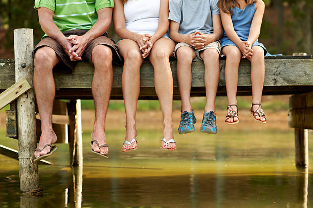 they are in a row for adventure - flod vatten brygga bildbanksfoton och bilder