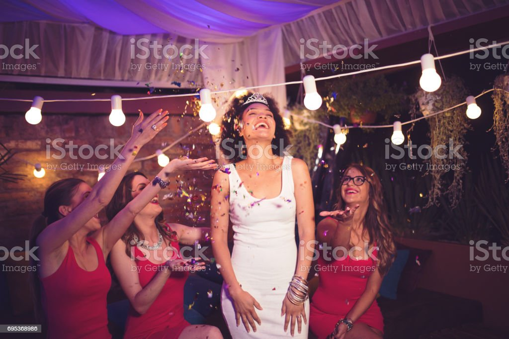 They are more than bridesmaids stock photo